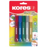 Lepidlo Kores Glitter Glue - 5 x 10,5 ml